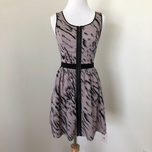 Kensie size 2 zip front dress w/leather trim
